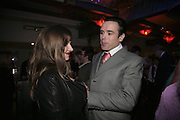 Rachel 2 and Sebastian Horsley,  Book launch for ' What Did I Do last night' by Tom Sykes. Century Club. Shaftesbury Ave. London. 16 January 2006. -DO NOT ARCHIVE-© Copyright Photograph by Dafydd Jones. 248 Clapham Rd. London SW9 0PZ. Tel 0207 820 0771. www.dafjones.com.