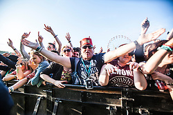 """Sunday, Rockness 2013, the annual music festival which took place in Scotland at Clune Farm, Dores, on the banks of Loch Ness, near Inverness in the Scottish Highlands. The festival is known as """"the most beautiful festival in the world""""."""