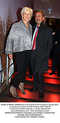 EDDIE & MARIE JORDAN he is the owner of the Jordan F1 racing team,  at a party in London on 28th October 2003.PNW 87