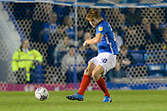 Sean Raggett (20) of Portsmouth on the attack during the EFL Sky Bet League 1 match between Portsmouth and Ipswich Town at Fratton Park, Portsmouth, England on 19 October 2021.