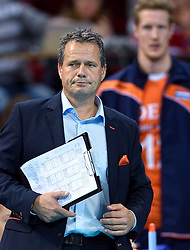 Coach Gido Vermeulen during volleyball match between National teams of Netherlands and Slovenia in Playoff of 2015 CEV Volleyball European Championship - Men, on October 13, 2015 in Arena Armeec, Sofia, Bulgaria. Photo by Ronald Hoogendoorn / Sportida