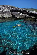 snorkelers visit Water Cay, Cay Sal Bank, Bahamas ( Western Atlantic Ocean ) MR 144 MR 146