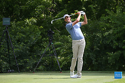 May 23, 2019 - Forth Worth, TX, U.S. - FORTH WORTH, TX - MAY 23: Chesson Hadley hits from the 8th tee during the first round of the Charles Schwab Challenge on May 23, 2019 at Colonial Country Club in Fort Worth, TX. (Photo by George Walker/Icon Sportswire) (Credit Image: © George Walker/Icon SMI via ZUMA Press)