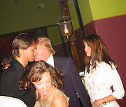 Marcus Schenkenberg, Donald Trump & Melania Knauss.Man Ray Restaurant Opening Party.Man Ray Restaurant.New York,  NY .July 11, 2001.Photo by Celebrityvibe.com..