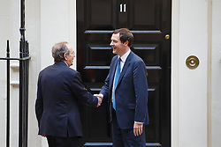 © licensed to London News Pictures. London, UK 30/04/2014. Italian Finance Minister Pier Carlo Padoan meeting Chancellor of the Exchequer George Osborne in Downing Street, London on Wednesday, 30 April 2014. Photo credit: Tolga Akmen/LNP
