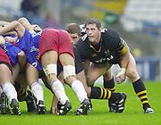 Shepards Bush, West London, UK., 30.09.2001,  Rory Jenkins,  London Wasps vs Stade Francais, Loftus Road Stadium,<br /> Heineken European Rugby Cup,<br /> [Mandatory Credit: Peter Spurrier/Intersport Images],
