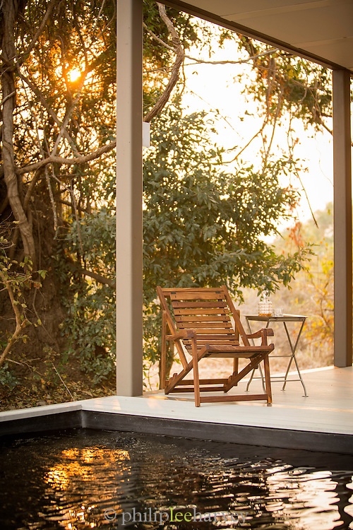 Private pool, Chinzombo Safari Lodge, Luangwa River Valley, Zambia, Africa