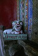 No Flash sign in temple - Ladakh 2006