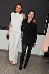 Left to right, VANESSA ARELIE and FRANCESCA AMFITHEATROF at the Swarovski Whitechapel Gallery Art Plus Fashion fundraising gala in support of the gallery's education fund held at The Whitechapel Gallery, 77-82 Whitechapel High Street, London E1 on 14th March 2013