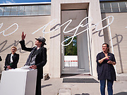 """58th Art Biennale Venice """"May You Live in Interesting Times"""" curated by Ralph Rugoff. Austrian Pavillion opening ceremony. Renate Bertlmann (m., with hat), """"Discordo Ergo Sum""""."""