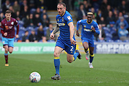 AFC Wimbledon defender Barry Fuller (2) dribbling down the wing during the EFL Sky Bet League 1 match between AFC Wimbledon and Scunthorpe United at the Cherry Red Records Stadium, Kingston, England on 7 April 2018. Picture by Matthew Redman.