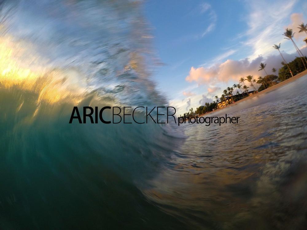 Sunset shore break session at kaanapali Beach