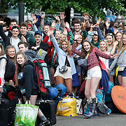 TITP revellers leave from Buchanan St Bus station for the festival. Picture Robert Perry for The Herald and Evening Times 7th July 2016