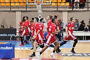 Team Varese durante il riscaldamento, Red October Cantù vs Openjobmetis Varese - 18 giornata Campionato LBA 2017/2018, PalaDesio Desio 05 febbraio 2018 - foto Bertani/Ciamillo