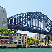Sydney's Harbour Bridge overlooking Campbells Cove