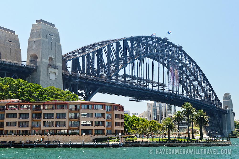 Sydney's Harbour Bridge overlooking Campbells Cove