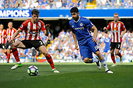 Chelsea Forward Diego Costa (19) during the Premier League match between Chelsea and Sunderland at Stamford Bridge, London, England on 21 May 2017. Photo by Andy Walter.