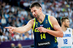 Gasper Vidmar of Slovenia during basketball match between National Teams of Finland and Slovenia at Day 3 of the FIBA EuroBasket 2017 at Hartwall Arena in Helsinki, Finland on September 2, 2017. Photo by Vid Ponikvar / Sportida