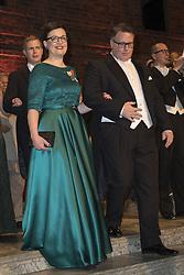 Anna Ekstrˆm, Richard Hellmark <br /> <br />  <br /> <br />  beim Nobelbankett 2016 im Rathaus in Stockholm / 101216 <br /> <br /> <br /> <br /> ***The Nobel banquet, Stockholm City Hall, December 10th, 2016***