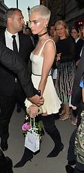 cara delevingne seen at dior party <br /><br />4 July 2017.<br /><br />Please byline: PalaceLee/Vantagenews.com