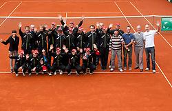Referees during Davis Cup Slovenia vs. South Africa on September 15, 2013 in Tivoli park, Ljubljana, Slovenia. (Photo by Vid Ponikvar / Sportida.com)