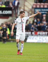 Falkirk's Luke Leahy at the end. Dunfermline 1 v 2 Falkirk, Scottish Championship game played 22/4/2017 at Dunfermline's home ground, East End Park.
