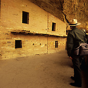 Historic Balcony House, a dwelling of the ancient and long vanished Anasazi people, is well preserved and somewhat stabilized in Mesa Verde NP, CO..NOT released