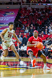 NORMAL, IL - February 26: Darrell Brown moves up court during a college basketball game between the ISU Redbirds and the Bradley Braves on February 26 2020 at Redbird Arena in Normal, IL. (Photo by Alan Look)