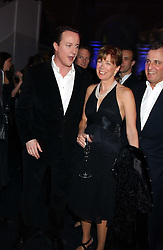 Leader of the Conservative Party DAVID CAMERON MP and his mother in law VISCOUNTESS ASTOR at the Conservative Party's Black & White Ball held at Old Billingsgate, 16 Lower Thames Street, London EC3 on 8th February 2006.<br /><br />NON EXCLUSIVE - WORLD RIGHTS