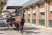 Historic Charleston City Market on Market Street in Charleston, SC.