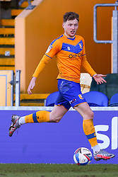 George Maris of Mansfield Town looks for options - Mandatory by-line: Ryan Crockett/JMP - 27/02/2021 - FOOTBALL - One Call Stadium - Mansfield, England - Mansfield Town v Morecambe - Sky Bet League Two