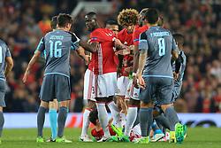 11th May 2017 - UEFA Europa League - Semi Final (2nd Leg) - Manchester United v Celta Vigo - Eric Bailly of Man Utd argues with Jozabed of Celta Vigo - Photo: Simon Stacpoole / Offside.