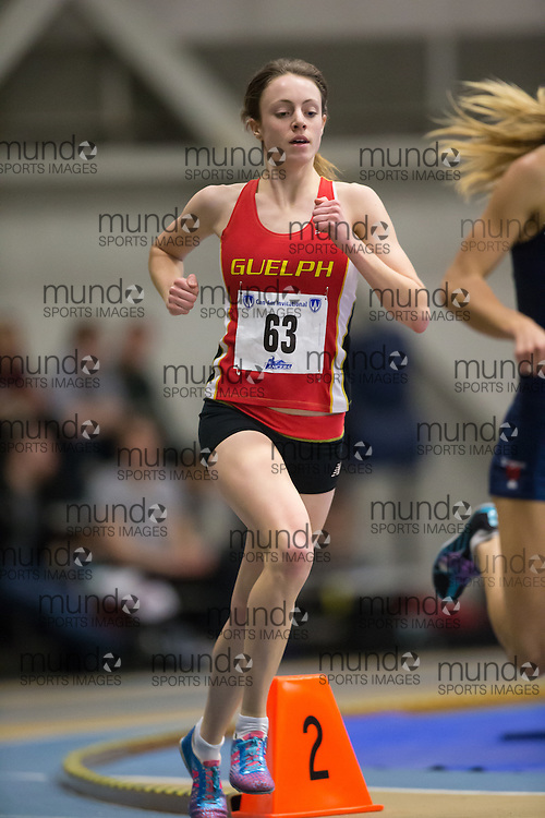 Carise Thompson of the University of Guelph  competes at the 2014 CanAm Track and Field meet in Windsor Ontario, Saturday,  January 11, 2014.<br /> Mundo Sport Images/ Geoff Robins
