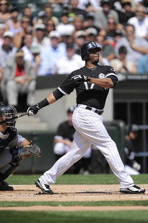CHICAGO - AUGUST 20:  Ken Griffey Jr. #17 of the Chicago White Sox bats during the game against the Seattle Mariners at U.S. Cellular Field in Chicago, Illinois on August 20, 2008.  The White Sox defeated the Mariners 15-3.  (Photo by Ron Vesely)