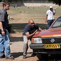 April 11, 2009: On the set of Bang Bang Club, day Abdul was killws, shot at Nancefield. Photo Greg Marinovich