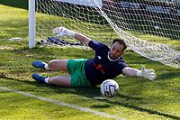 Ross Fitzsimons.  Aldershot Town FC 1-2 Stockport County FC. Vanarama National League. The EBB Stadium. 2.4.21