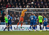 Football - 2018 / 2019 FA Cup - Third Round: Gillingham vs. Cardiff City<br /> <br /> Tomas Holy (Gillingham FC) collects the high ball at Priestfield Stadium.<br /> <br /> COLORSPORT/DANIEL BEARHAM