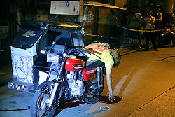 November 15, 2016 - Philippines - (EDITOR'S NOTE: Image depicts death) Reynato R. Bernardo, 55 yrs. old and working as a tricycle driver and allegedly drug users found dead at his motor cycle is a victim of summary execution by un-identified vigilantes at AT Reyes St. Brgy Poblacion, Mandaluyong City. (Credit Image: © Gregorio B. Dantes Jr/Pacific Press via ZUMA Wire)