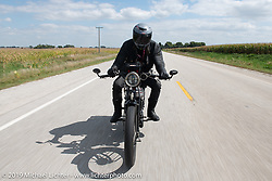 Keith Martin riding his 1924 Norton on the Motorcycle Cannonball coast to coast vintage run. Stage 7 (274 miles) from Cedar Rapids to Spirit Lake, IA. Friday September 14, 2018. Photography ©2018 Michael Lichter.