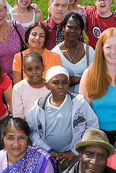 Multiracial group of people,