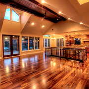 Interior of new custom built home in Lake Lotawana, Missouri.