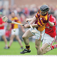 21 October 2007; Brian Lynch, Tulla, in action against Fergus Kennedy, Crusheen. Clare Senoir Hurling Championship Final, Crusheen v Tulla, Cusack Park, Ennis, Co. Clare. Picture credit: Kieran Clancy / SPORTSFILE