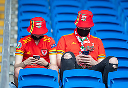 CARDIFF, WALES - Saturday, June 5, 2021: Wales' supporters pictured before an International Friendly between Wales and Albania at the Cardiff City Stadium in their game before the UEFA Euro 2020 tournament. (Pic by David Rawcliffe/Propaganda)