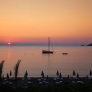 Sunrise in Turunc beach, Marmaris, Turkey