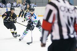 Andrej Hebar of HDD Telemach Olimpija during ice hockey match between HK Playboy Slavija and HDD Telemach Olimpija in semi-final of Slovenian Cup, on November 10, 2015  in Ledena Dvorana Zalog, Ljubljana, Slovenia. Photo by Urban Urbanc / Sportida