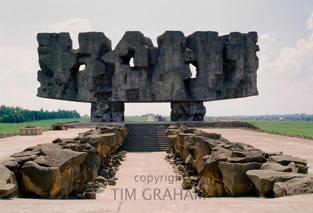 Memorial to the holocaust victims at Majdanek Concentration Camp, Poland