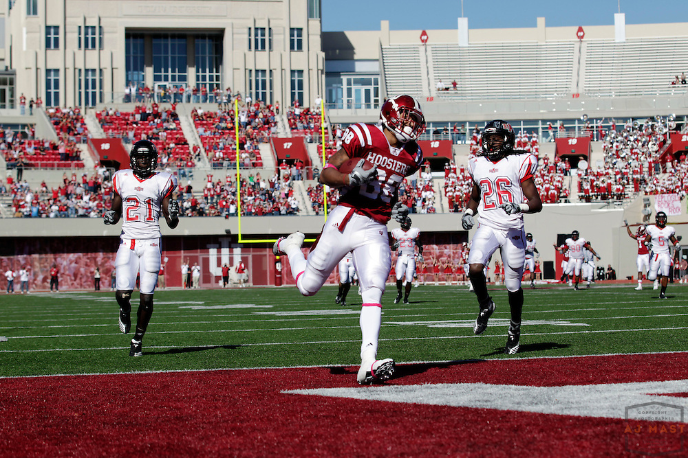 16 October 2010: Indiana Hoosiers wide receiver Damarlo Belcher (88) as the Arkansas State Red Wolves played the Indiana Hoosiers in a college football game in Bloomington, Ind.