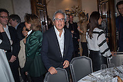 ANISH KAPOOR, Anish Kapoor and Lee Ufan preview dinner hosted by the Lisson Gallery after the opening on Bell St. The Connaught. London. 23 March 2015