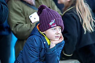 A young Scunthorpe United fan looks on during the EFL Sky Bet League 1 match between Scunthorpe United and Wycombe Wanderers at Glanford Park, Scunthorpe, England on 29 December 2018.