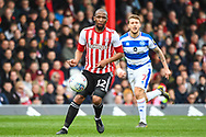Brentford Midfielder Kamohelo Mokotjo (12) in action during the EFL Sky Bet Championship match between Brentford and Queens Park Rangers at Griffin Park, London, England on 2 March 2019.
